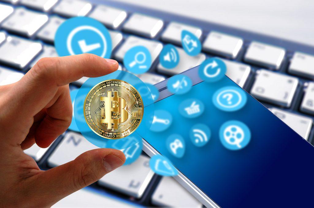 Bitcoin in smartphone