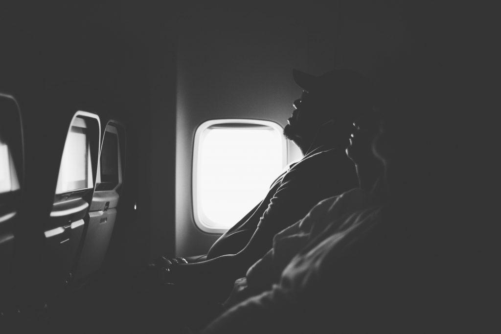 Passengers sleeping
